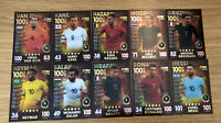 MATCH ATTAX 101 2019 FULL SET OF ALL 10 100 HUNDRED CLUBS INC MESSI,RONALDO