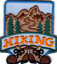 """""""HIKING"""" - IRON ON EMBROIDERED PATCH/SPORTS, HIKER, OUTDOORS, SPORTS, CAMPING"""