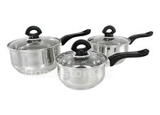 Sabichi 3pc Stainless Steel Saucepan Set