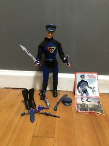 1966 IDEAL CAPTAIN ACTION FIGURE W/ORIGINAL COSTUME & ACCESSORIES .ALLYou See