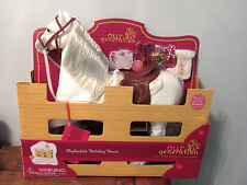 """CHRISTMAS American Our Generation HOLIDAY CLYDESDALE Sleigh Horse 18"""" Girl Doll"""