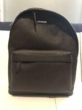 8d81f77accf791 MICHAEL KORS MEN'S RUSSEL Leather BACKPACK BOOK Shoulder BAG Large Brown  Pvc New