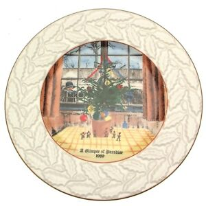 Coalport A Glimpse of Paradise by Harry Bush Christmas Plate 1989 CP481