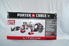 NEW Porter Cable PCCK614L4 4-Tool 20v Max Li-ion Cordless Combo Kit Drill Saw