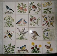 Fliesen, Kacheln, handbemalt ,Vögel, Tiere, Blumen  und mehr !!