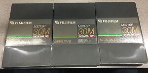 Fujifilm Betacam SP 30 minute tape lot x 3 (M321SP)