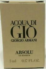 NEW ACQUA DI GIO ABSOLU GIORGIO ARMANI 0.17 .17 Oz 5 ml EDP mini eau de parfum