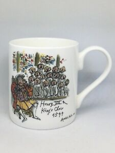 New Unused Cambridge University 800 Years Mug Quentin Blake Henry Vlll Rare