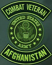 AFGHANISTAN U.S. ARMY SEAL COMBAT VETERAN MOTORCYCLE MILITARY LOT OF 3 PATCH