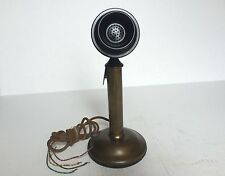 Western Electric Vintage Candle Stick Telephone Microphone Bell