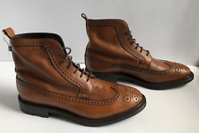 New Fratelli Rossetti Men's Italian Brown Lace-up Boots Brogue Oxford Never Worn