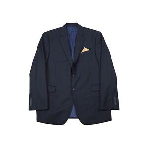 John Lewis Pure Wool Regular Fit Blazer / Suit Jacket - Navy / UK 46L