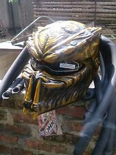 3D Pattern Alien Predator Motorcycle Helmet With LED DOT Approved M-XXL