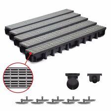 5m Entwässerungsrinne für modulares System A15 98mm, komplett Grau Line