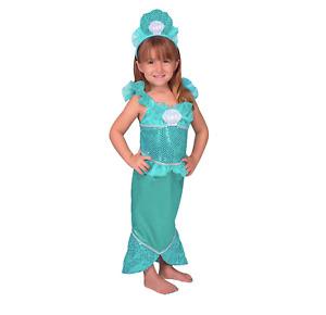 Melissa & Doug Mermaid Costume Dress Up Play Set Dress & Tiarra Age 3-6 Pretend
