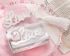 1 Words of Love Silver Finish Bookmark Favors Wedding Gift Party Bridal Shower