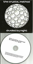 CRYSTAL METHOD w/Peter of NEW ORDER joy Division ADVNCE PROMO CD Justin Warfield