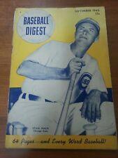 Vintage Baseball Digest September 1945 Chicago Cubs Stan Hack cover vg condition