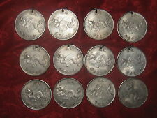 WHOLESALE LOT OF 8 OLD CHINESE DRAGON COIN CHARMS PENDANTS NECKLACES 4 COINS