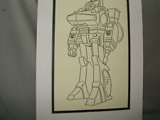 Transformer Shockwave   Pen Ink Art Poster Exhibit