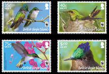 Br Virgin Is 2014 Hummingbirds 4v set MNH