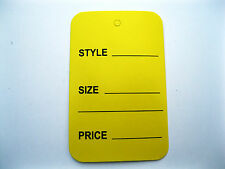 100 Yellow Extra Large Merchandise Price Tags 175 X 275