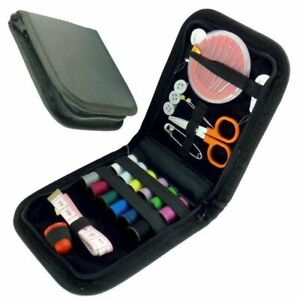 Portable Travel Small Home Sewing Kit Case Needle Thread Scissor Set