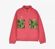 Nike ACG Sherpa Animal Print Pink Magenta Jacket Fleece Zip Size S
