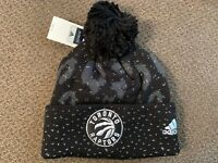 Toronto Raptors Winter Hat Pom Beanie NBA Basketball NWT One Size Women's Adidas