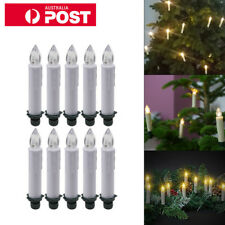 10pcs Wireless LED Flameless Christmas Tree Candle Lights Clip Remote Control AU