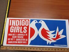 MB 2006 Rock Roll Concert Poster Indigo Girls Print Mafia SN LE#100 Knoxville TN