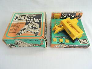 Vintage 1970s BRITAINS HAY BALER in Original Box with Bales - 9563 Bamfords