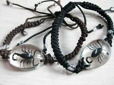 PAIR BLACK SCORPION LUCITE BRACELET BANGLE INSECT JEWELRY TAXIDERMY GIFT