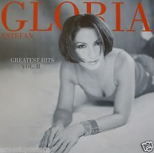"GLORIA ESTEFAN ""GREATEST HITS II"" U.S. PROMO POSTER - Beautiful Latin Pop Music"