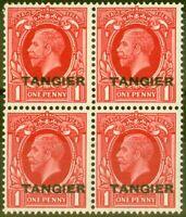 Tangier 1934 1d Scarlet SG236 V.F MNH Block of 4