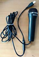 Genuine Konami Logitech USB Microphone Black Wii Xbox 360 One PS2 PS3 PS4 PC