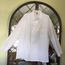 Red Kap Ten Pearl Button Chef Coat, White, 52 Reg Xxl