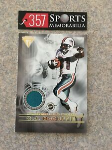 2001 PACIFIC PRIVATE STOCK TITANIUM OJ MCDUFFIE JJ STOKES GAME USED JERSEY 49ERS