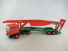 Lion Toys Lion Car 1:50 Daf 2800 Car transporter orange green
