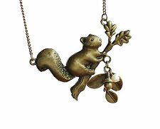Christmas gifts friend gifts Squirrels and pearl beads necklace