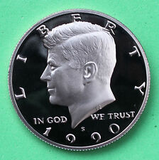 1990 S Proof Kennedy Half Dollar Coin 50 Cent JFK from Proof Set