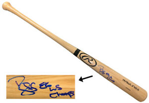 Darryl Strawberry signed Rawlings Pro Blonde Bat w/ 86 WS Champs - PSA Witnessed