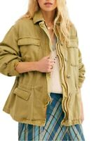 Free People Jacket Seize The Day Military Green Army Sz L NEW NWT 906