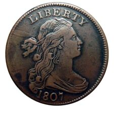 """Large cent/penny 1807 """"comet"""" amazing high grade example"""