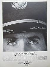 8/1963 PUB TWA TRANS WORLD AIRLINES PILOT CAPTAIN PILOTE ORIGINAL AD