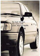 Audi 100 Free Sony In-Car CD System Offer Early 1994 UK Market Brochure