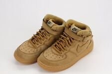 Nike Air Force 1 Mid PS Flax Brown Tan Kids Boys 13C Leather Trainers