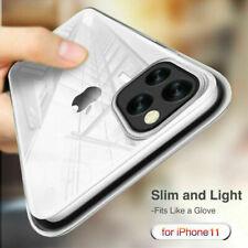 Para iPhone 11 Pro Max XS Max delgada claro como el cristal duro caso cubierta trasera Teléfono