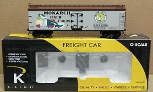 K-Line K742-8029 Monarch Finer Food Wood Reefer 2-Rail O-Scale LNIB