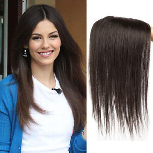full handwave one piece topper 5*8cm 100% human hair two color 25cm